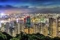 Hong kong night view from braemar hill Stock Photography