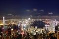 Hong kong at night view of skyline Royalty Free Stock Image