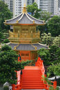 Hong Kong pagoda Royalty Free Stock Photo