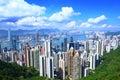 Hong Kong from peak Royalty Free Stock Photo