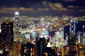 Hong Kong from the peak Royalty Free Stock Photo