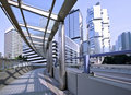 Hong Kong pedestrian walkway Royalty Free Stock Photography