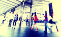 Hong kong people commuters city walking pedestrian concept Royalty Free Stock Photos