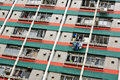 Hong Kong public housing Royalty Free Stock Photography