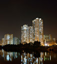 Hong Kong public housing and river Royalty Free Stock Image