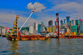Hong kong reclamation site Stock Photography