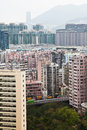 Hong Kong Residential Area Photographie stock libre de droits