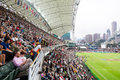 Hong kong rugby sevens at the football stadium Royalty Free Stock Image