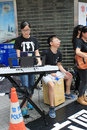 Hong kong singing event for memorizing china tiananmen square protests of university students the located in wan chai Royalty Free Stock Photography