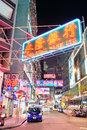 Hong Kong street night Royalty Free Stock Photography