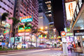 Hong Kong street night Royalty Free Stock Image