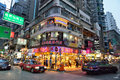 Hong kong street view in causeway bay district Stock Images