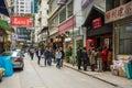 Hong Kong Streets Royalty Free Stock Photo