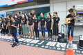 Hong kong students singing event for memorizing china tiananmen square protests of university the located in wan chai Royalty Free Stock Image