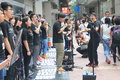 Hong kong students singing event for memorizing china tiananmen square protests of university the located in wan chai Stock Photography