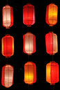 Hong Kong style lantern Royalty Free Stock Photos