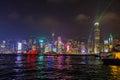 Hong Kong Symphony of lights Royalty Free Stock Photo
