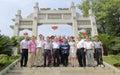 Hong kong taoist association delegation visited xiamen qingjiao cijigong palace september green reef tzu chi secretary of Stock Photos