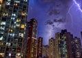 Hong Kong Thunder light Royalty Free Stock Photo