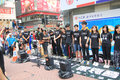 Hong kong university students singing event for memorizing china tiananmen square protests of the located in wan chai Stock Photography