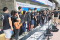 Hong kong university students singing event for memorizing china tiananmen square protests of the located in wan chai Stock Images