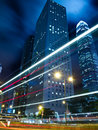Hong Kong Urban Traffic at Night Royalty Free Stock Images