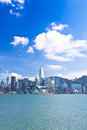 Hong Kong view along the seashore Royalty Free Stock Images