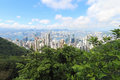 Hong Kong. View from the peak. Royalty Free Stock Photo