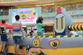 Hong kong vs bomberman game event located in metro city plaza on june th the aims to promote cartoon it Royalty Free Stock Photos