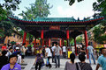 Hong kong wong tai sin temple one of the most famous shrines of Royalty Free Stock Image