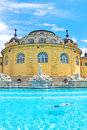 Hongarije szechenyi bath spa in boedapest Royalty-vrije Stock Fotografie