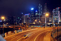 Hongkong central night scene,street view of China  city, travel tourism tour Traveling in China ,Asia Royalty Free Stock Photo