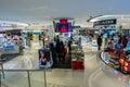 Hongkong china: cosmetics counters Royalty Free Stock Photo
