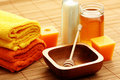Honing en milk spa Stock Afbeelding