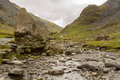 Honister Pass in Lake District in stream Stock Image