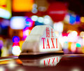 Honk Kong Night Taxi Royalty Free Stock Images