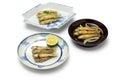 Honmoroko, willow gudgeon, japanese cuisine Royalty Free Stock Photo