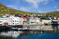 Honningsvag/ Honningsvåg city, Norway Royalty Free Stock Photography