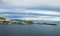 Honningsvag northernmost city mainland norway beyond arctic circle Stock Photo