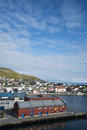 Honningsvag port the of north cape in summer Stock Images