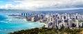 Honolulu Coastline Royalty Free Stock Photo