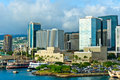 Honolulu hawaii united states beautiful view of Stock Images