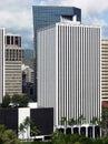 Honolulu Skyscrapers Royalty Free Stock Photo