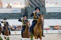 The honor cavalry escort president moscow september on international military music festival spasskaya tower on september in Royalty Free Stock Images