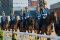 The honor cavalry escort of the president moscow september presentation on international military music festival spasskaya tower Stock Photography