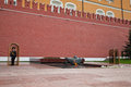 Honor guard at the eternal flame at the red square in moscow russia Royalty Free Stock Photo