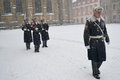 Honor guard at Prague Castle Royalty Free Stock Photography