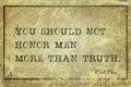Honor men Plato Royalty Free Stock Photo