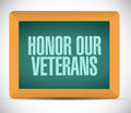 honor our veterans board sign Royalty Free Stock Photo