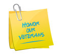 honor our veterans memo illustration design Royalty Free Stock Photo
